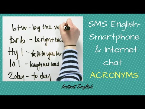 SMS English- Smartphone &Internet Chat Abbreviations /acronyms