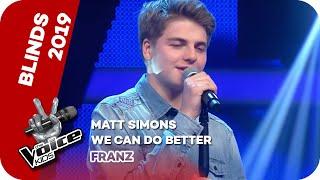 """Zum verwechseln ähnlich mit dem original performt franz den song """"we can do better"""" von matt simons. dass der salzburger jedoch nicht nur ein talentierter sä..."""