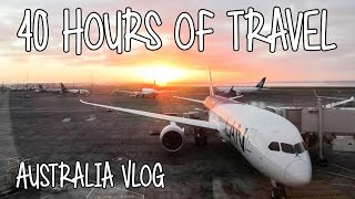 40 hours of travel australia vlog 1