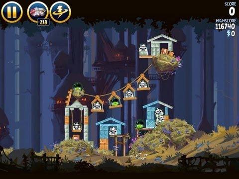 Angry Birds Star Wars 5-14 Moon of Endor 3 Star Walkthrough