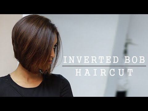 How To Inverted Bob Haircut Youtube