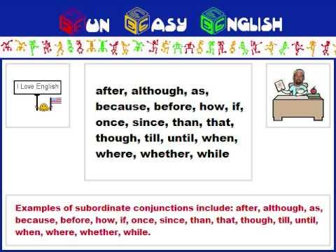 english grammar subordinate conjunction youtube