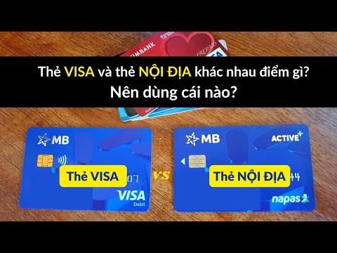 MBBank: Sự khác nhau giữa thẻ ghi nợ nội địa và Visa Debit? Nên dùng thẻ nào?