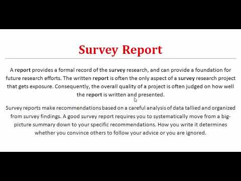 What is a Survey Report? Survey Report Writing Skills