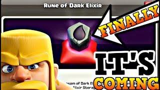 RUNE OF DARK ELIXIR - CONFIRMED| FINALLY THE WAIT WILL OVER|CLASH OF CLANS