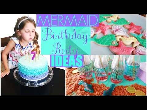 🐠Mermaid Birthday Party Ideas: Decorations, Cake, DIY & Games!