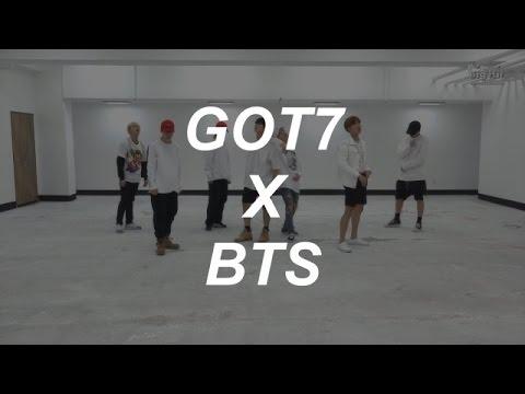 GOT7 X BTS: Hard Carry & Fire Dance Practice (Magic Dance)