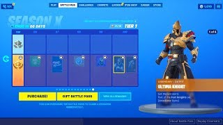 SEASON 10 BATTLE PASS FORTNITE -SEASON X' Ultima chevalier