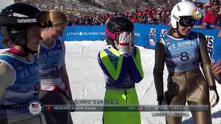 Olympic Ski Jumping Trials | Sarah Hendrickson Rebounds From Injuries To Make Olympic Team