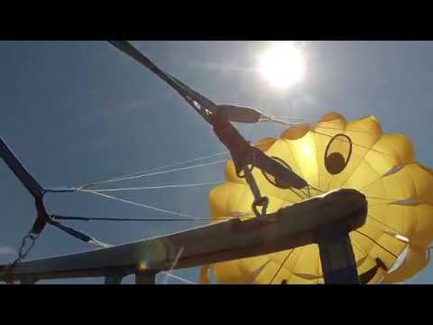 Полёт на парашюте за катером (пляж санатория Горный воздух в Лоо).