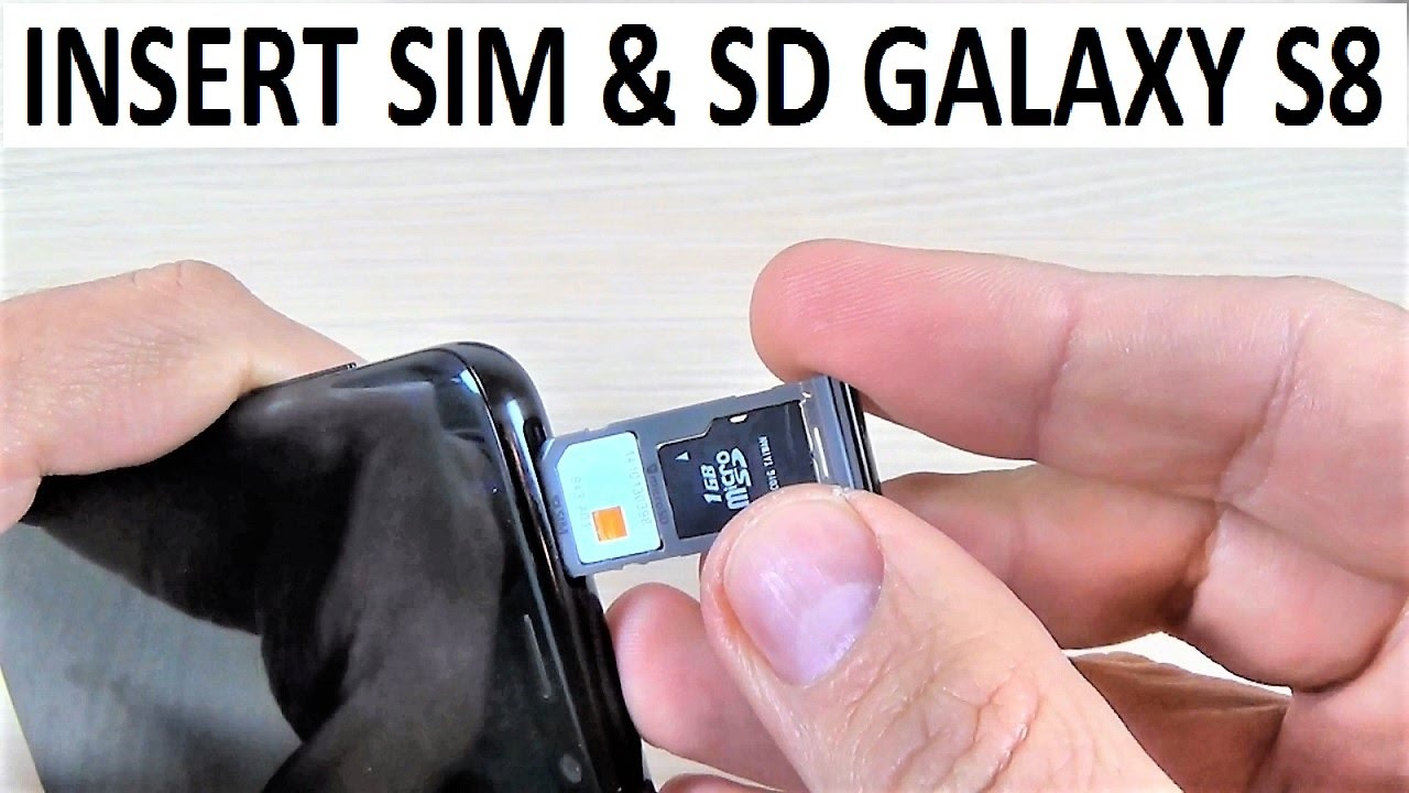 Galaxy S8 Sim Karte.Samsung Galaxy S8 Insert Sim Sd Card