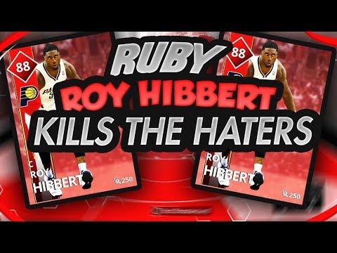 """NBA 2K18 MYTEAM RUBY ROY HIBBERT HE""""S A HUMAN BLOCK MACHINE"""