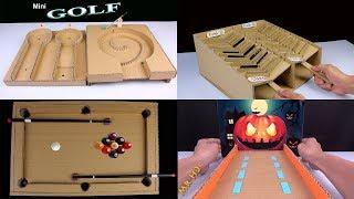 WOW ! 5 Amazing Desktop game from cardboard [Mr h2 Diy - Compilation]