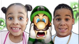 FamousTubeKIDS Go To Luigi's Mansion!