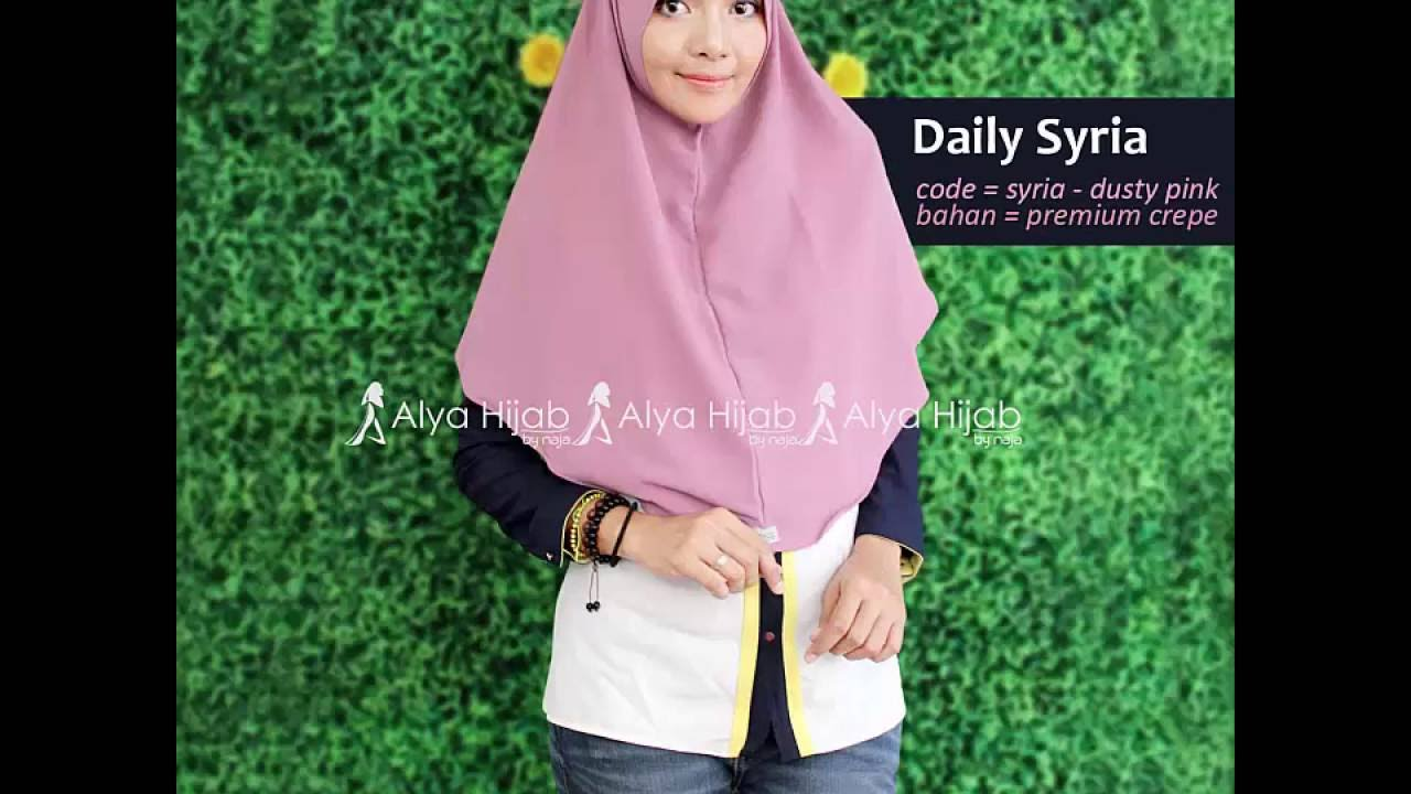 Tutorial Hijab Instant Daily Syria YouTube