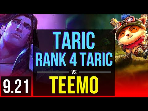 TARIC Vs TEEMO (TOP)   Rank 4 Taric, KDA 2/1/12   NA Challenger   V9.21