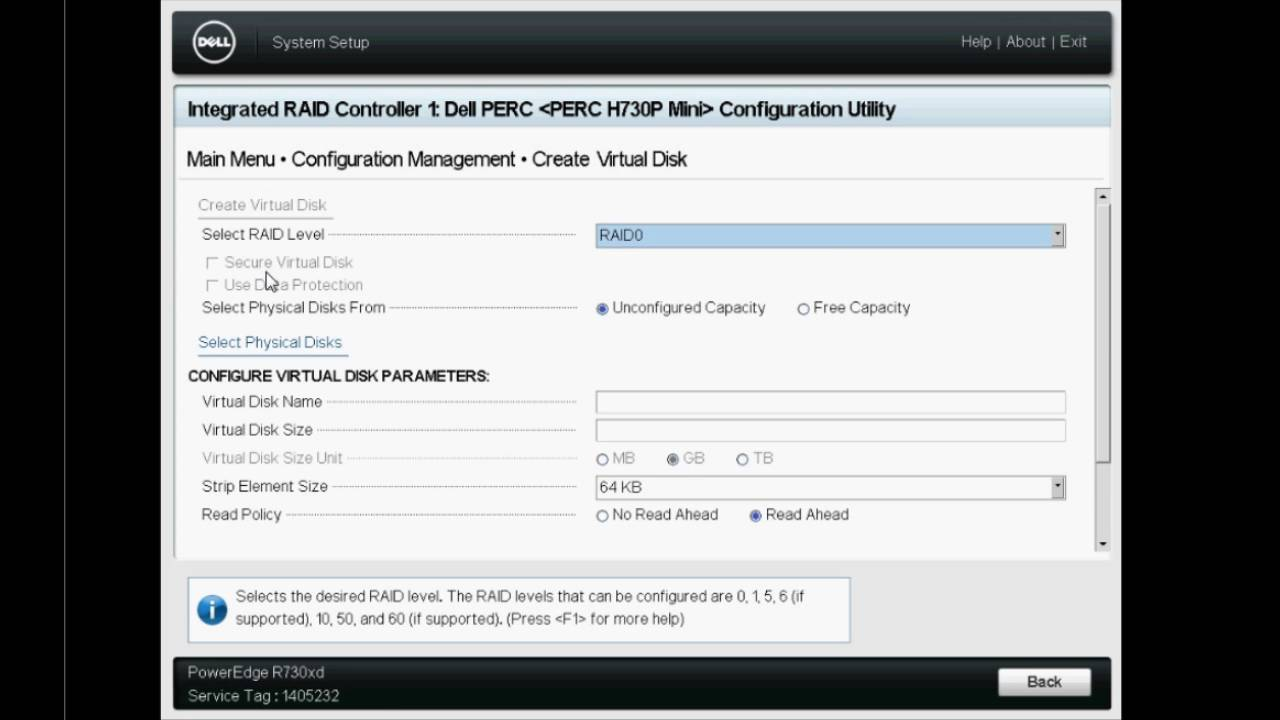 Performing Online Capacity Expansion on PERC controller