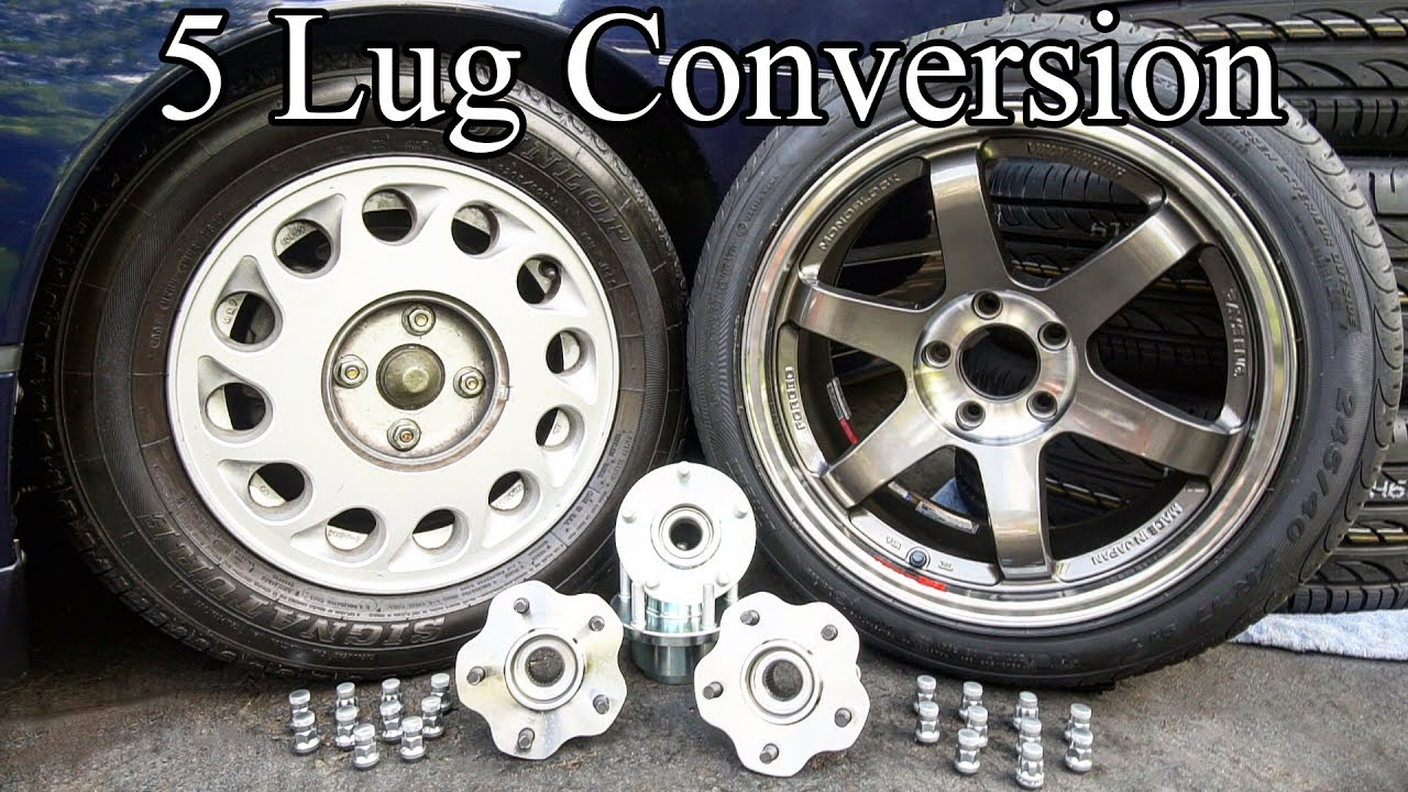 Diy 5 lug conversion on your car or truck