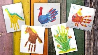 Рисовать ладошками Урок рисования для детей