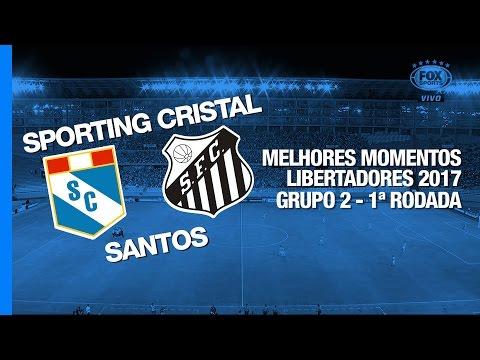 Melhores Momentos - Sporting Cristal 1 x 1 Santos - Libertadores - 09/03/2017