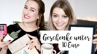 20 GESCHENKIDEEN UNTER 10€ I Christmas Gift Guide