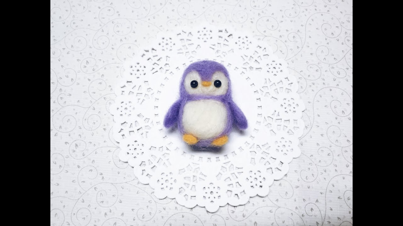 Daiso Penguin Plush DIY Needle Felt Tutorial!YouTube