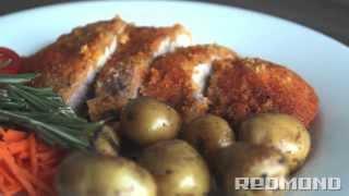 Шницель из свинины в панировке в мультиварке REDMOND 250. Рецепты для мультиварки