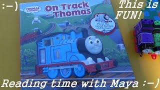 Thomas the Tank Engine Reading Book: On the Track with Thomas :-)