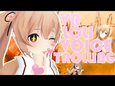 VRChat | Loli Voice Trolling [Episode 1]: ME And A Real Female.