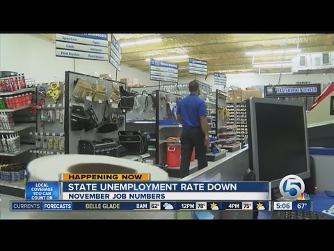State unemployment rate down