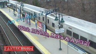 An Evening of Railfanning at Mount Kisco (R3) - Harlem Line - Metro North Railroad