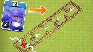 1 TROOP ONLY!! | TRY TO OUTRUN THE SHRINK TRAP!! | Clash of clans!!
