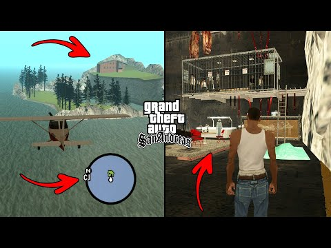 Secret Island With House And Prison In GTA San Andreas! (Hidden Place)