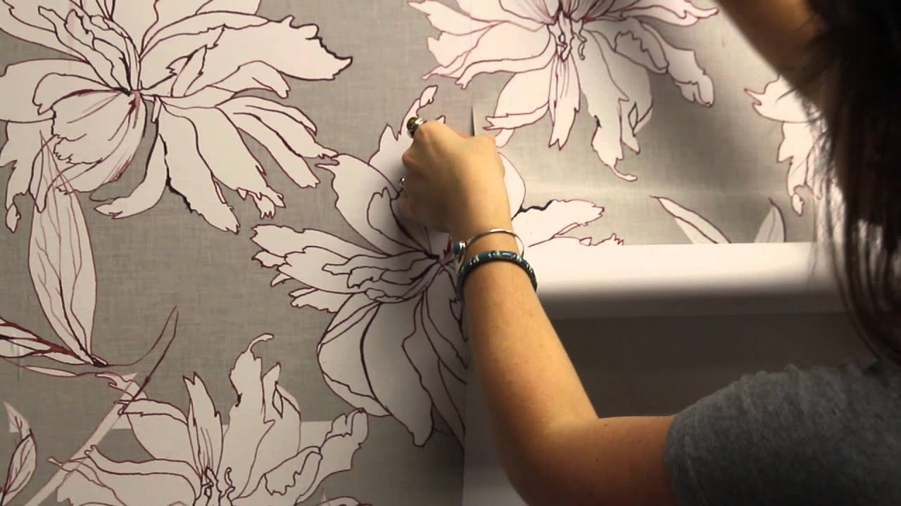How To Install Woven Peel Stick Wallpaper Spoonflower Youtube