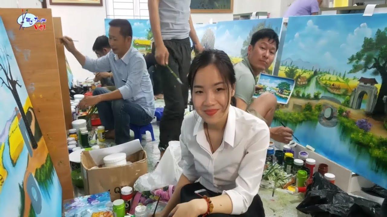 Giới thiệu tóm Tắt khóa học vẽ tranh tường (khóa K3). Do T.tâm Mỹ Thuật Việt tổ chức