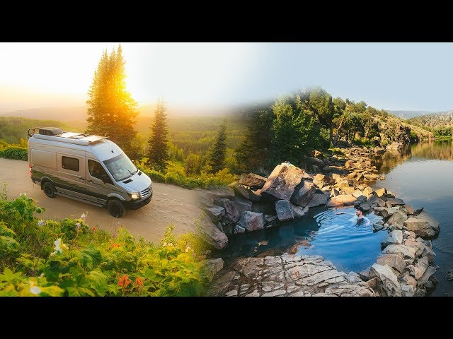 This FREE Hot Spring will blow your mind!! VAN LIFE 🛀