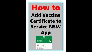 How to Add Vacciฑation Digital Certificate to Service NSW App