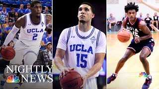 UCLA Athletes Thank President Donald Trump For Their Release | NBC Nightly News