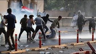 Proteste gegen Regierung: Schüsse und Tränengas gegen Demonstranten im Irak