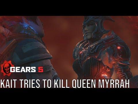 Kait Tries To Kill Queen Myrrah - Gears 5 (Gears Of War 5) #Gears5 Kait's Locust Hallucinations