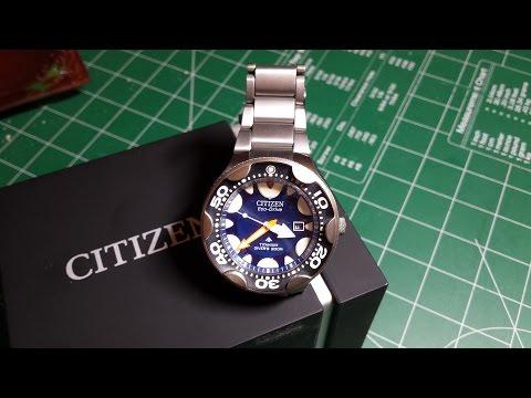 Обзор Часы Citizen Orca - Неуловимая касатка. Уникальные часы.