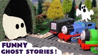 Thomas & Friends Spooky but Funny Ghost Toy Stories with McQueen - Toys for Kids and children TT4U