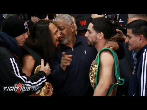 Keith Thurman vs. Danny Garcia Full Weigh In Face Off Video