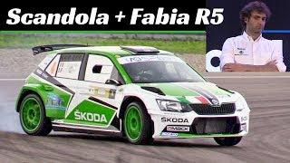 Umberto Scandola and his Skoda Fabia R5 - Actions + Interview at Motor1Days 2018 [ITA/ENG SUB]