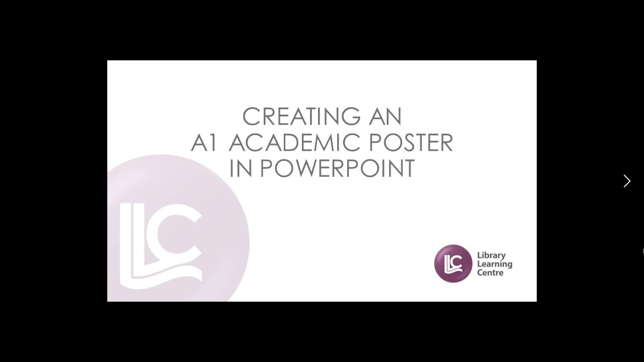 create a1 poster in powerpoint youtube