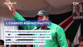 DPP approves corruption charges against Waititu, Sh10M for being an Arsenal fan? | #NewsIn90
