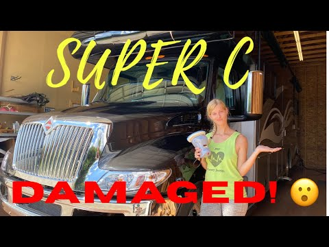 Super C DAMAGED!// RV Paint Repair DIY// Jeep Vandalized by YouTubers//New License Plates!