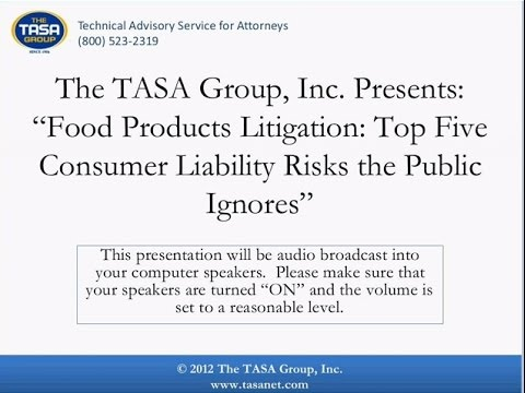 Food Products Litigation: Top Five Consumer Liability Risks
