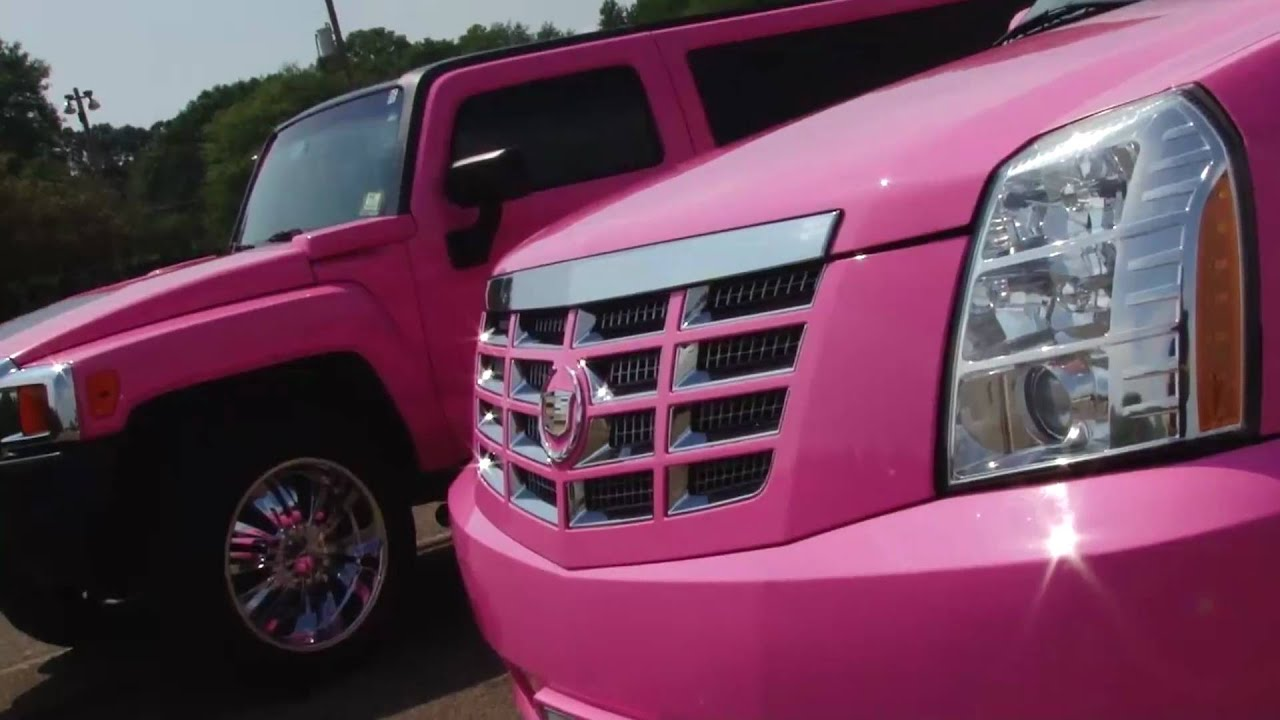 "Exotic Pink Limos in NY NJ The hottest ""Pink"" Limousines period"