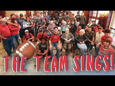 Strong Rock Christian School Football Team Visit